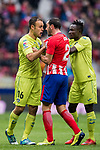 Juan Torres Ruiz, Cala (L), of Getafe CF confronts with Diego Roberto Godin Leal of Atletico de Madrid during the La Liga 2017-18 match between Atletico de Madrid and Getafe CF at Wanda Metropolitano on January 06 2018 in Madrid, Spain. Photo by Diego Gonzalez / Power Sport Images
