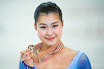 TAIPEI, TAIWAN - JANUARY 25: Kanako Murakami of Japan poses with her gold medal after winning the Ladies Free Skating event during the Four Continents Figure Skating Championships on January 25, 2014 in Taipei, Taiwan.  Photo by Victor Fraile / Power Sport Images *** Local Caption *** Kanako Murakami