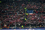 Supporters of  Bayer 04 Leverkusen during the match of Uefa Champions League between Atletico de Madrid and Bayer Leverkusen at Vicente Calderon Stadium  in Madrid, Spain. March 15, 2017. (ALTERPHOTOS / Rodrigo Jimenez)
