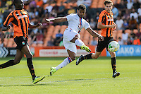 Fraizer Campbell of Crystal Palace scores his team's fifth goal against Barnet to make it 3-5 during the Friendly match between Barnet and Crystal Palace at The Hive, London, England on 11 July 2015. Photo by David Horn.