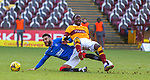 17.01.2021 Motherwell v Rangers: Connor Goldson and Devante Cole