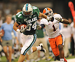 Tulane falls to Syracuse, 37-34, in the Mercedes-Benz Superdome.