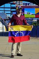 Foxborough, MA - Saturday June 18, 2016: Fan prior to a Copa America Centenario quarterfinal match between Argentina (ARG) and Venezuela (VEN)  at Gillette Stadium.