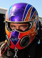Jul. 17, 2010; Sonoma, CA, USA; NHRA top fuel dragster driver Mike Strasburg during qualifying for the Fram Autolite Nationals at Infineon Raceway. Mandatory Credit: Mark J. Rebilas-