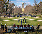 Apr. 9, 2014; ROTC Pass-In-Review ceremony.<br /> <br /> Photo by Matt Cashore/University of Notre Dame