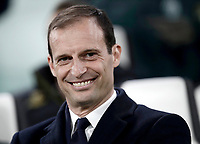 Juventus coach Massimiliano Allegri smiles prior to the start of the Champions League round of 16 soccer match against Porto at Turin's Juventus Stadium, 14 March 2017. Juventus won 1-0 (3-0 on aggregate) to reach the quarter finals.<br /> UPDATE IMAGES PRESS/Isabella Bonotto