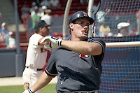 Boston Red Sox Wade Boggs during spring training circa 1990 at Chain of Lakes Park in Winter Haven, Florida.  (MJA/Four Seam Images)
