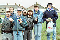 Fans of Barking Football Club are seen during the Isthmian League football match at Redbridge Forest - 24/03/90 - MANDATORY CREDIT: Gavin Ellis/TGSPHOTO - Self billing applies where appropriate - Tel: 0845 094 6026