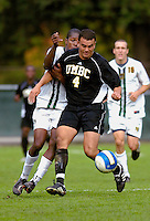 17 October 2007: The University of Maryland Retrievers' L.J. Pijnenburg, a Junior from Hamilton, New Zealand, in action against the University of Vermont Catamounts at Historic Centennial Field in Burlington, Vermont. The Catamounts and Retrievers battled to a scoreless, double-overtime tie...Mandatory Photo Credit: Ed Wolfstein Photo