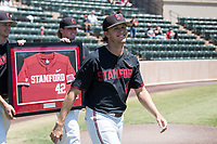 STANFORD, CA - MAY 29: Austin Weiermiller before a game between Oregon State University and Stanford Baseball at Sunken Diamond on May 29, 2021 in Stanford, California.