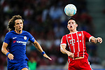 Chelsea Defender David Luiz (L plays against Bayern Munich Midfielder James Rodríguez (R) during the International Champions Cup match between Chelsea FC and FC Bayern Munich at National Stadium on July 25, 2017 in Singapore. Photo by Marcio Rodrigo Machado / Power Sport Images