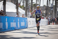 Andy Potts takes 2nd place in the Accenture Ironman California 70.3 in Oceanside, CA on March 29, 2014.