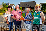 Seanie Burrows is the first inductee into the Basketball Hall of Fame pictured at home in Tralee on Monday with his family. L to r: Elaine Burrows Dillane, Seanie and Vourneen Burrows and Sean Dillane.