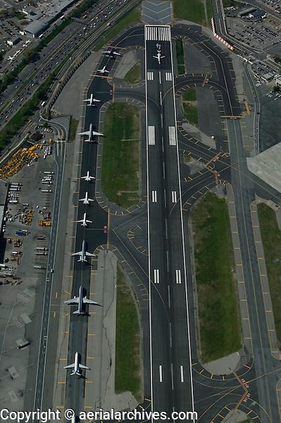 aerial photograph LaGuardia airport Queens, New York City