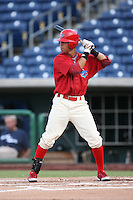 August 12, 2008: Quintin Berry (9) of the Clearwater Threshers at Bright House Field in Clearwater, FL. Photo by: Chris Proctor/Four Seam Images