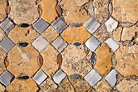 Nordzypern, Kirche Agios Filon (Philon) aus dem 11. Jahrhundert, Karpaz-Halbinsel (Karpasia), Boden-Mosaik