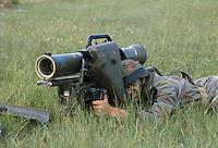 - training of S.Marco battalion navy infantrymen with Milan anti-tank missile launcher....- addestramento dei fanti di marina del battaglione S.Marco con lanciamissili anticarro Milan