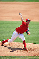 Clearwater Threshers starting pitcher Tom Eshelman (39) delivers a pitch during a game against the Charlotte Stone Crabs on April 13, 2016 at Bright House Field in Clearwater, Florida.  Charlotte defeated Clearwater 1-0.  (Mike Janes/Four Seam Images)