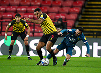 Troy Deeney of Watford during the Sky Bet Championship behind closed doors match played without supporters with the town in tier 4 of the government covid-19 restrictions, between Watford and Norwich City at Vicarage Road, Watford, England on 26 December 2020. Photo by Andy Rowland.