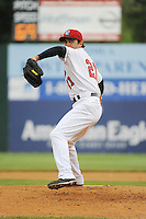 New Britain Rock Cats pitcher Virgil Vasquez (21) during the game against the Richmond Flying Squirrels at New Britain Stadium on May 22, 2014 in New Britain, CT.  Suspended by rain in 2nd inning was finished on August 19,2014. Richmond defeated New Britain 5-3.  (Tomasso DeRosa/Four Seam Images)