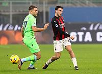 Milano  23-12-2020<br /> Stadio Giuseppe Meazza<br /> Campionato Serie A Tim 2020/21<br /> Milan Lazio<br /> nella foto:   Davide Calabria Immobile                                                       <br /> Antonio Saia