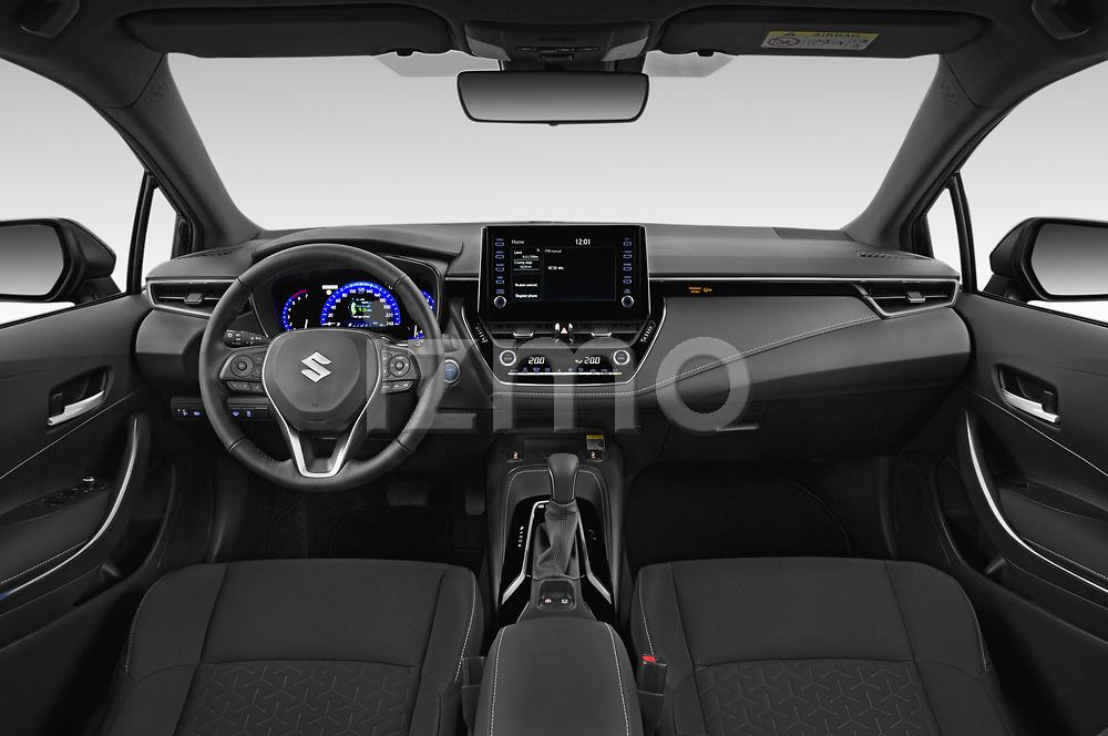 Stock photo of straight dashboard view of 2021 Suzuki Swace GLX 5 Door Wagon Dashboard