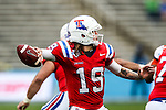 Louisiana Tech Bulldogs quarterback Cody Sokol (19) in action during the Heart of Dallas Bowl Bowl game between the Illinois Fighting Illini and the Louisiana Tech Bulldogs at the Cotton Bowl Stadium in Dallas, Texas. Louisiana defeats Illinois 35 to 18.