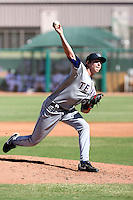 Tanner Scheppers - Surprise Rafters, 2009 Arizona Fall League. Scheppers made his first professional appearance in relief against the Mesa Solar Sox at Hohokam Stadium, Mesa, Arizona, 10/16/2009..Photo by:  Bill Mitchell/Four Seam Images..