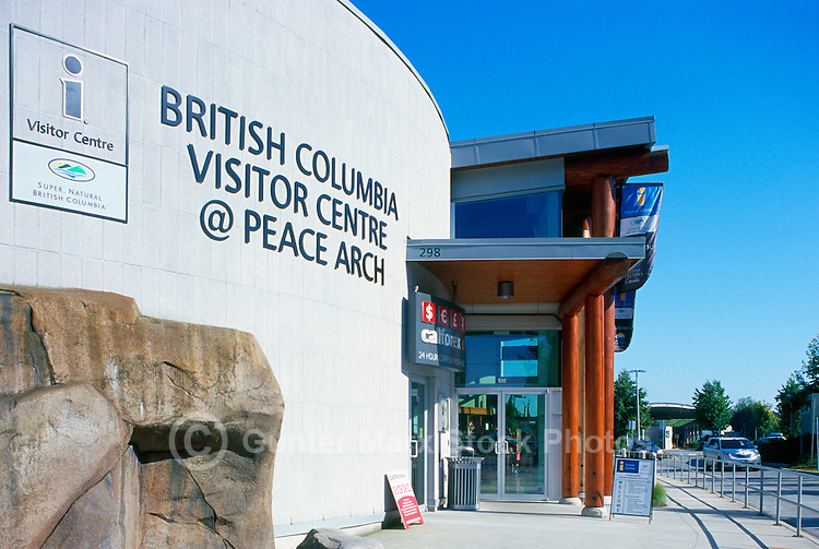 British Columbia Visitor Centre, Surrey, BC, British Columbia, Canada - at Peace Arch International Border Crossing / Douglas Border Crossing to Blaine, Washington State, United States