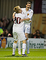 05/08/2010   Copyright  Pic : James Stewart.sct_jsp012_Motherwell_v_Aalesund  .::  JONATHAN PAGE CELEBRATES WITH JAMIE MURPHY AFTER HE SCORES THE THIRD::  .James Stewart Photography 19 Carronlea Drive, Falkirk. FK2 8DN      Vat Reg No. 607 6932 25.Telephone      : +44 (0)1324 570291 .Mobile              : +44 (0)7721 416997.E-mail  :  jim@jspa.co.uk.If you require further information then contact Jim Stewart on any of the numbers above.........