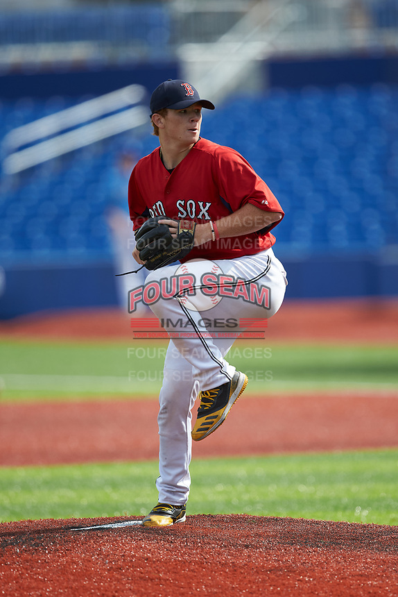 James Triantos (24) of Madison High School (VA) playing for the Red Sox scout team during game six of the South Atlantic Border Battle at Truist Point on September 27, 2020 in High Pont, NC. (Brian Westerholt/Four Seam Images)