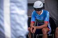 Niki Terpstra (NED/Total Direct Energie) awaits his turn to start his TT. <br /> <br /> Baloise Belgium Tour 2019<br /> Stage 3: ITT Grimbergen – Grimbergen 9.2km<br /> ©kramon
