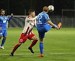 Jann Bangert (Nr.21, FC Giessen) gegen Nico Hammann (Nr.22, FC Astoria Walldorf) im Duell um den Ball  beim Spiel in der Regionalliga, FC Astoria Walldorf - FC Giessen.<br /> <br /> Foto © PIX-Sportfotos *** Foto ist honorarpflichtig! *** Auf Anfrage in hoeherer Qualitaet/Aufloesung. Belegexemplar erbeten. Veroeffentlichung ausschliesslich fuer journalistisch-publizistische Zwecke. For editorial use only. DFL regulations prohibit any use of photographs as image sequences and/or quasi-video.