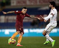 Calcio, Serie A: Roma, stadio Olimpico, 19 febbraio 2017.<br /> Roma's Leandro Paredes scores during the Italian Serie A football match between As Roma and Torino at Rome's Olympic stadium, on February 19, 2017.<br /> UPDATE IMAGES PRESS/Isabella Bonotto