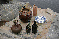 A varietey of ceramics found on the wreck.. ©Fredrik Naumann/Felix Features