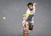 Rotterdam, The Netherlands, 28 Februari 2021, ABNAMRO World Tennis Tournament, Ahoy, Qualyfying match:  Jeremy Chardy (FRA)  <br /> Photo: www.tennisimages.com/henkkoster