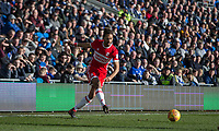 Ryan Shotton of Middlesbrough during the Sky Bet Championship match between Cardiff City and Middlesbrough at the Cardiff City Stadium, Cardiff, Wales on 17 February 2018. Photo by Mark Hawkins / PRiME Media Images.