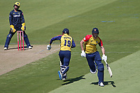 Paul Walter and Michael Pepper add to the Essex total during Glamorgan vs Essex Eagles, Vitality Blast T20 Cricket at the Sophia Gardens Cardiff on 13th June 2021