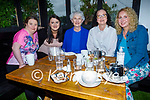 Josephine Egan with her four daughters enjoying the evening in Gally's on Saturday, l to r: Valerie, Fiona, Josephine, Maura and Connie Egan.