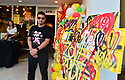 CORAL GABLES, FL - MAY 25: Director & producer Kristin Robertson and Artist Nino, winner of 'creative people pizza from the art' attends the P.Pole Pizza 3rd anniversary feature Singer AYASH on May 25, 2021 in Coral Gables, Florida.  ( Photo by Johnny Louis / jlnphotography.com )