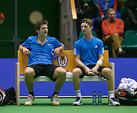 17-12-13,Netherlands, Rotterdam,  Topsportcentrum, Tennis Masters, ,  Sander Arends and David de Goede (R)   <br /> Photo: Henk Koster
