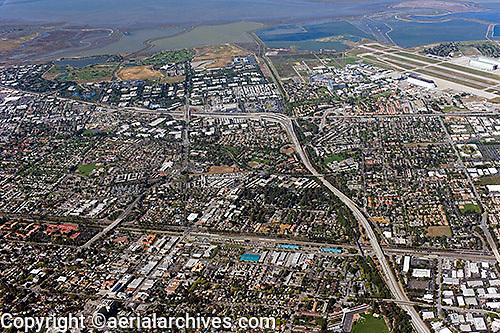aerial photograph Mountain View, Highway 85, Santa Clara county, California