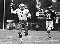 Don Jonas Winnipeg Blue Bombers quarterback 1973. Copyright photograph Scott Grant