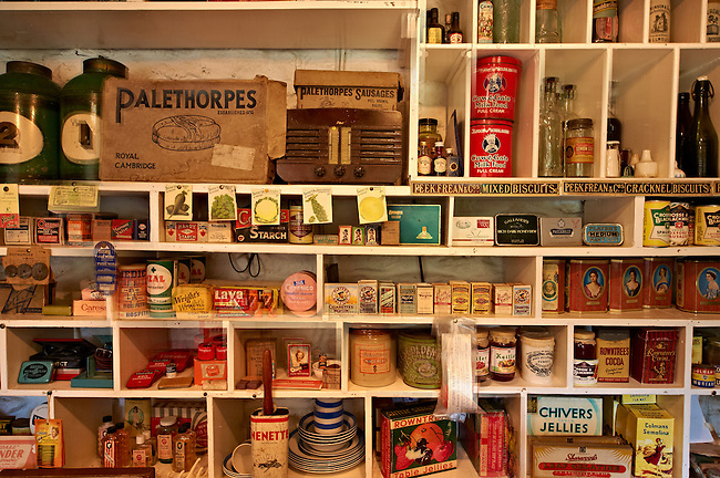 Inside of the Village store at  Ryedale Folk Museum, Hutton Le Hole, North Yorks Moors National Park, Yorkshire, England