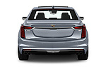 Straight rear view of 2019 Cadillac CT6 Premium-Luxury 4 Door Sedan Rear View  stock images