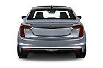 Straight rear view of 2019 Cadillac CT6 Premium-Luxury 4 Door Sedan Rear View  stock images