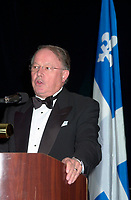 Nov 1, 2002, Montreal, Quebec, Canada<br /> <br /> Bernard Landry, Quebec Premier, congratulate the<br /> Association des Medecins de Langue Francaise du Canada<br />  (Canada's French Speaking Doctors' association) for it's  100 th anniversary, during their gala night, November 1st, 2002 in MontrÈal, CANADA<br /> <br /> Mandatory Credit: Photo by Pierre Roussel- Images Distribution. (©) Copyright 2002 by Pierre Roussel