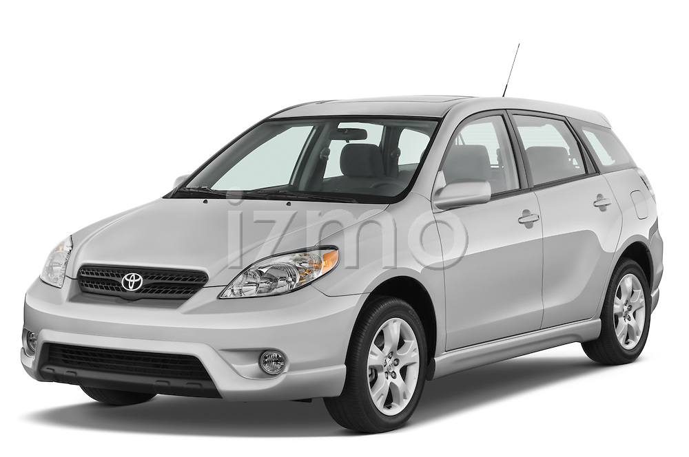 Front three quarter view of a 2008 Toyota Matrix wagon.