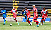 ITAGÜI - COLOMBIA, 31-01-2021: Itagüi Leones F. C. y Tigres F. C. durante partido de la fecha 3 por el Torneo BetPlay DIMAYOR 2021 en el estadio Metropolitano de Itagüi de la ciudad de Itagüi. / Itagüi Leones F. C. and Tigres F. C. during a match of the 3rd for the BetPlay DIMAYOR 2021 Tournament at the Metropolitano de Itagüi stadium in Itagüi city. Photo: VizzorImage. / Luis Benavides / Cont.