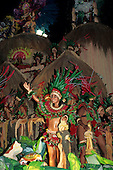 Rio de Janeiro, Brazil. Carnival float with Amazon Indian theme.
